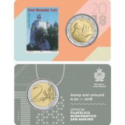 San Marino 2 euro 2018 BU - coincard  nr. 02