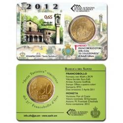 San Marino 50 cent + postzegel 2012 BU - coincard  nr. 01