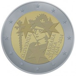 Slovenie 2 euro 2014 'De Kroning van Barbara von Celje' UNC