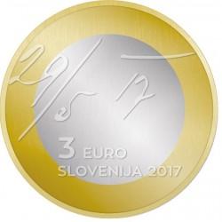 Slovenie 3 euro 2017 Mei verklaring UNC