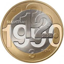 Slovenie 3 euro 2020 Onafhankelijkheid UNC