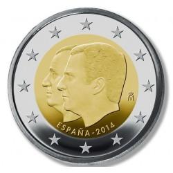 Spanje 2 euro comm 2014 'Dubbelportret Juan Carlos en Felipe VI' UNC