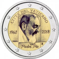 Vaticaan 2 euro 2018 'Padre Pio' BU in blister
