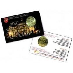 Vaticaan 50 cent 2010 coincard nr. 1