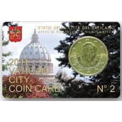 Vaticaan 50 cent 2011 coincard nr. 2