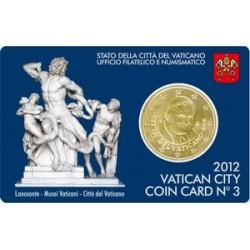 Vaticaan 50 cent 2012 coincard nr. 3