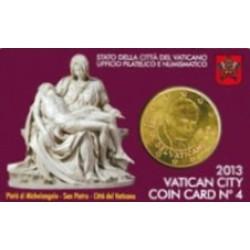 Vaticaan 50 cent 2013 coincard nr. 4