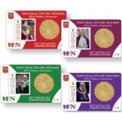 Vaticaan 50 cent + postzegel 2018 coincard nr. 18 t/m 21