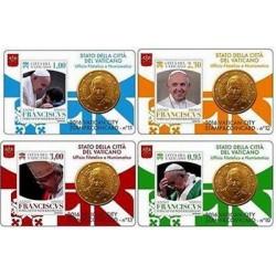 Vaticaan 50 cent + postzegel 2016 coincard nr. 10 t/m 13