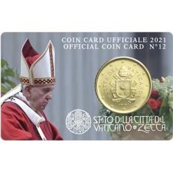 Vaticaan 50 cent 2021 coincard nr. 12