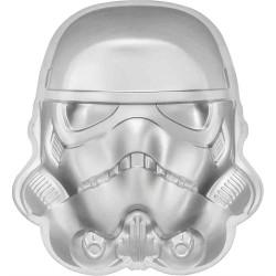 2020 Star Wars Helmets 2) STORMTROOPER - Niue 5 dollars 2 oz silver coin