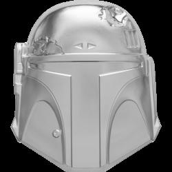 2020 Star Wars Helmets 3) BOBA FETT - Niue 5 dollars 2 oz silver coin