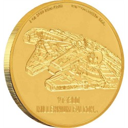 2020 Star Wars Ships 1) Millennium Falcon™ - Niue 250 dollars 2020 1 oz gold coin