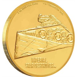 2020 Star Wars Ships 2) Imperial Star Destroyer™ - Niue 250 dollars 2020 1 oz gold coin