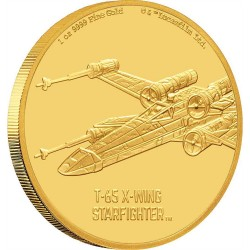 2020 Star Wars Ships 3) T-65 X-Wing Fighter™ - Niue 250 dollars 2020 1 oz gold coin