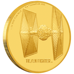 2020 Star Wars Ships 4) TIE/LN Fighter™ - Niue 250 dollars 2020 1 oz gold coin