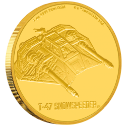 2020 Star Wars Ships 5) T-47 Snowspeeder™ - Niue 250 dollars 2020 1 oz gold coin