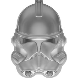 2021 Star Wars Helmets 4) CLONE TROOPER - Niue 5 dollars 2 oz silver coin