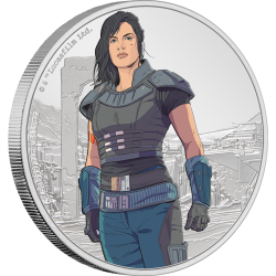 2021 Star Wars The Mandalorian 2) CARA DUNE™ - Niue 2 dollars 1 oz silver coin