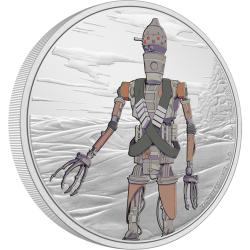 2021 Star Wars The Mandalorian 3) IG-11™ - Niue 2 dollars 1 oz silver coin