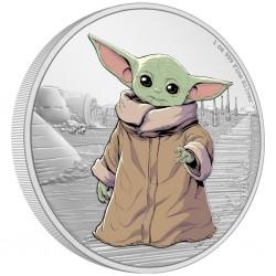 2021 Star Wars The Mandalorian 4) GROGU, Te Child™ - Niue 2 dollars 1 oz silver coin