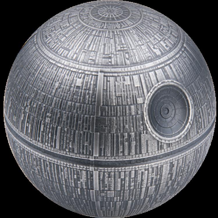 Niue 2 $2020-Star Wars ™ Death Star ™ 1 Oz Silber PP