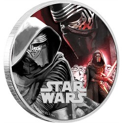 Niue 2 dollar 2016 Star Wars - The Force Awakens - 1. Kylo Ren - 1 Oz. zilver
