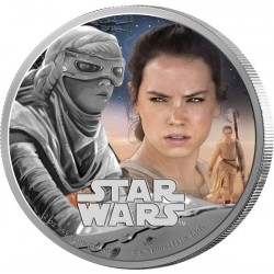 Niue 2 dollar 2016 Star Wars - The Force Awakens - 3. Rey - 1 Oz. zilver