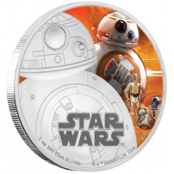 Niue 2 dollar 2016 Star Wars - The Force Awakens - 4. BB-8 - 1 Oz. zilver