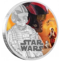 Niue 2 dollar 2016 Star Wars - The Force Awakens - 6. Poe Dameron - 1 Oz. zilver