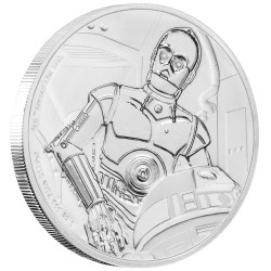 Niue 2 dollar 2017 Star Wars - Classics - 9. C-3PO™ - 1 Oz. zilver