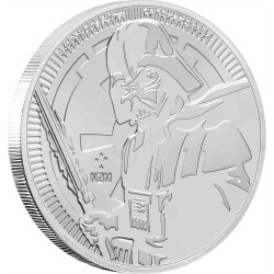 Niue 2 dollars 2019 Star Wars bullion - 5) Darth Vader - 1 Oz. silver coin