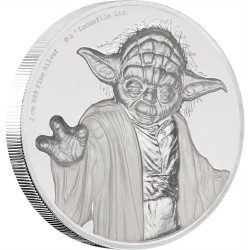 Niue 5 dollars 2018 Star Wars - 3) Yoda™ - Ultra High Relief 2 Oz. silver coin
