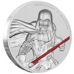 Niue 5 dollars 2017 Star Wars - 1) Darth Vader™ - Ultra High Relief 2 Oz. silver coin