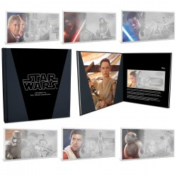 Niue 7x 1 dollar 2018-2019 Star Wars Coin Note Collection - The Force Awakens™ - 5 gr silver foil