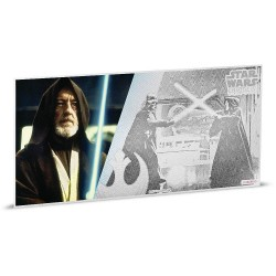 Niue 1 dollar 2018 Star Wars Coin Note - 2) A New Hope - Obi-Wan Kenobi™ - 5 gr silver foil