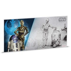 Niue 1 dollar 2018 Star Wars Coin Note - 3) A New Hope - R2-D2™ - 5 gr silver foil