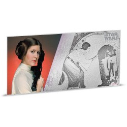 Niue 1 dollar 2018 Star Wars Coin Note - 4) A New Hope - Princess Leia™ - 5 gr silver foil