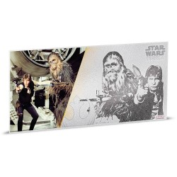 Niue 1 dollar 2018 Star Wars Coin Note - 5) A New Hope - Han Solo & Chewbacca™ - 5 gr silver foil