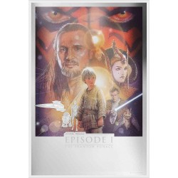 Niue 2 dollars 2019 Star Wars Premium Foil Poster - 4) The Phantom Menace™ - 35g. silver foil