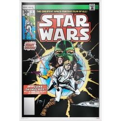 Niue 2 dollars 2019 Star Wars Premium Foil Poster - Star Wars Comic Books #1™ - 35g. silver foil