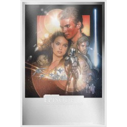 Niue 2 dollars 2019 Star Wars Premium Foil Poster - 5) Attack Of The Clones™ - 35g. silver foil