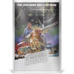 Niue 2 dollars 2018 Star Wars Premium Foil Poster - 2) The Empire Strikes Back™ - 35g. silver foil