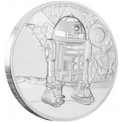 Niue 2 dollar 2016 Star Wars - Classics - 4. R2-D2 - 1 Oz. zilver