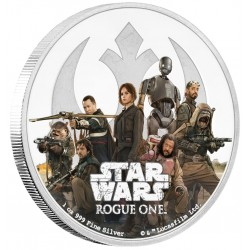 Niue 2 dollar 2017 Star Wars - Rogue One - 1. Rebellion - 1 Oz. zilver