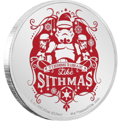 2020 Star Wars Season's Greetings - Niue 2 dollars 1 Oz silver coin