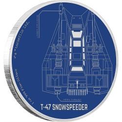 Niue 2 dollar 2017 Star Wars - Ships - 5. T-47 Snowspeeder™ - 1 Oz. zilver