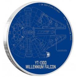 Niue 2 dollar 2017 Star Wars - Ships - 1. Millenium Falcon™ - 1 Oz. zilver