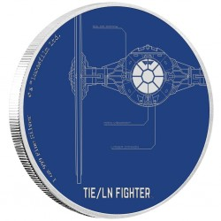 Niue 2 dollar 2017 Star Wars - Ships - 4. TIE Fighter (TIE/LN Fighter)™ - 1 Oz. zilver