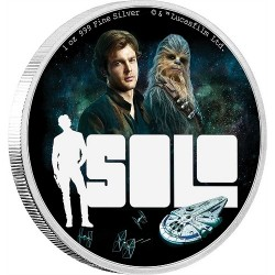 Niue 2 dollar 2018 Star Wars - Solo: A Star Wars Story - 1oz Silver Coin